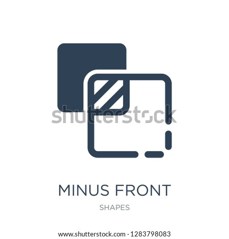 minus front icon vector on white background, minus front trendy filled icons from Shapes collection, minus front vector illustration