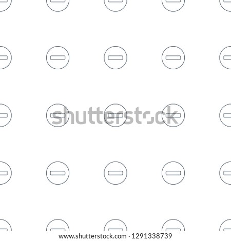 minus icon pattern seamless white background. Editable line minus icon. minus icon pattern for web and mobile.