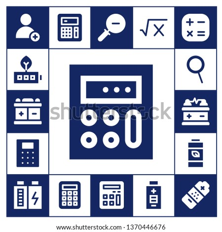 minus icon set. 17 filled minus icons.  Simple modern icons about  - Add, Battery, Calculator, Zoom, Zoom out, Math