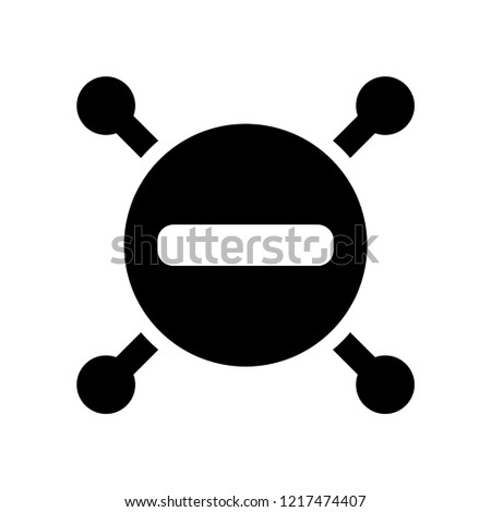 Minus icon. Trendy Minus logo concept on white background from User Interface and Web Navigation collection. Suitable for use on web apps, mobile apps and print media.