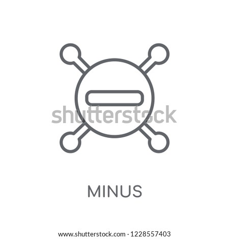 Minus linear icon. Modern outline Minus logo concept on white background from User Interface and Web Navigation collection. Suitable for use on web apps, mobile apps and print media.