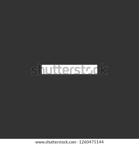 minus sign icon vector. minus sign sign on black background. minus sign icon for web and app