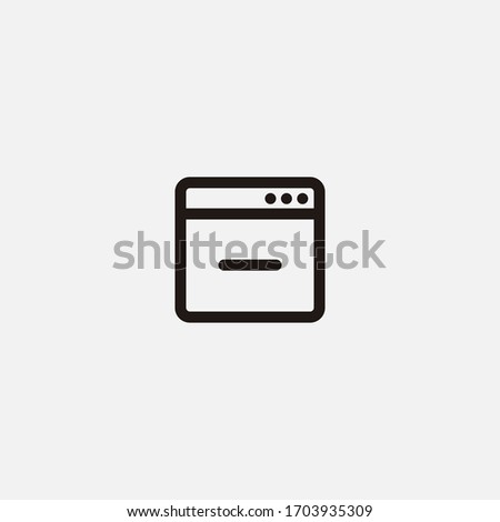 minus sign on browser window icon vector illustrator sign