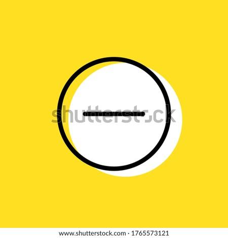 Minus simple vector icon illustration