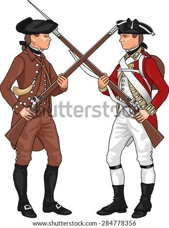 minuteman and british soldier