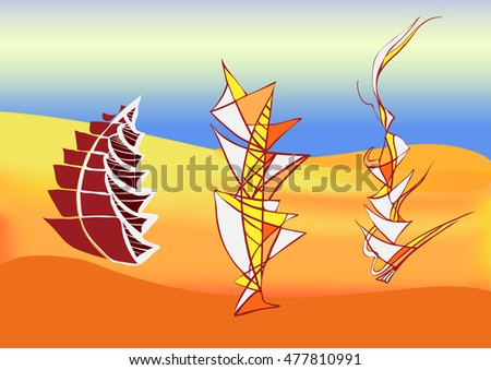 mirage of a ship sailing in the