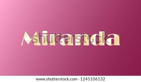miranda gold shining name
