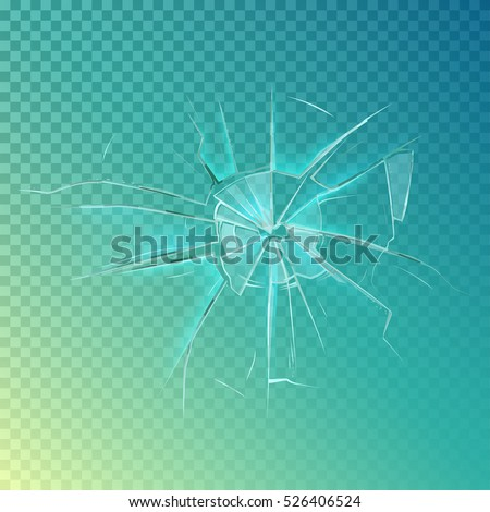 Mirror or broken glass, cracked or shattered window. Crashed screen or crack on window frame, shatter or broken mirror. Accident damage, burglary or anger, violence and destroy theme