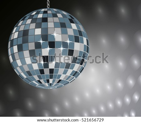 mirror silver disco ball on
