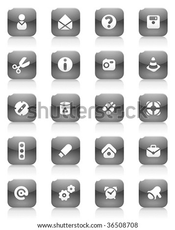 Miscellaneous buttons. Icons for websites and interface elements. Vector illustration.
