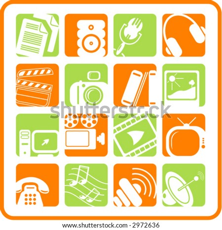 Miscellaneous multimedia icons