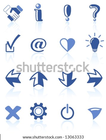 Miscellaneous signs vector iconset