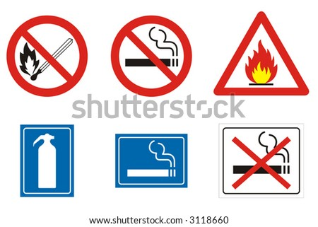 Miscellaneous symbols and signs related to fire