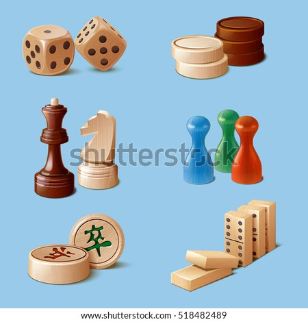 miscellaneous wood board game