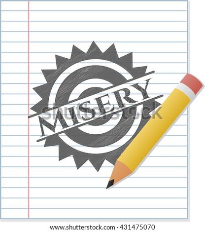 Misery pencil strokes emblem
