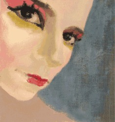 miss cabaret, vector painting