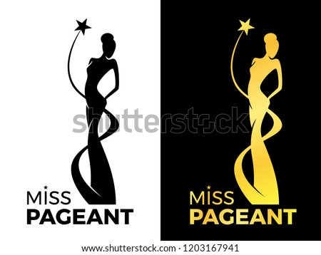 miss lady pageant logo sign