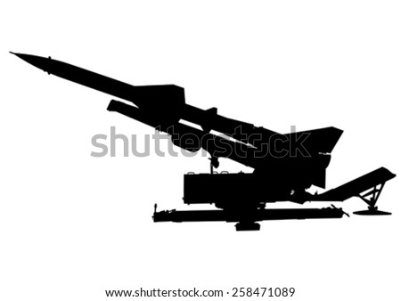 missile anti aircraft gun on a