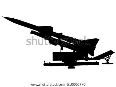 missile anti aircraft gun on a