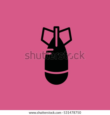 missile icon illustration