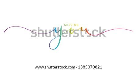 missing you rainbow brush