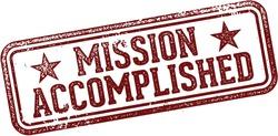 Mission Accomplished Rubber Stamp Vector