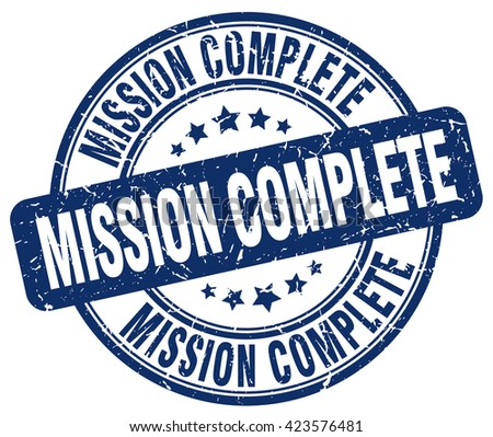 mission complete stamp