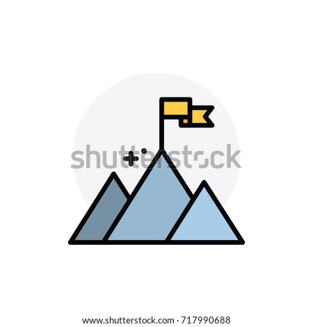 Mission concept Isolated Line Vector Illustration editable Icon