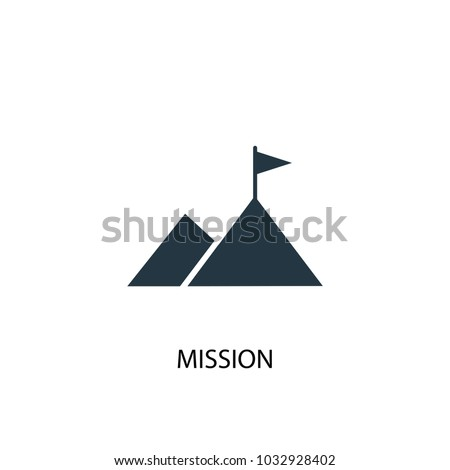 Mission icon. Simple element illustration. Mission symbol design from Startup collection. Can be used for web and mobile.