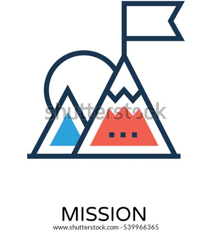 mission vector icon