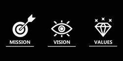 Mission vision values icon design vector , mission icon , vision icon