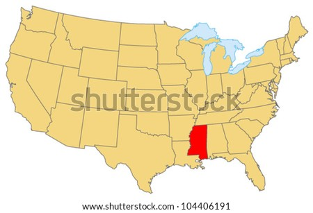 Mississippi Locate Map