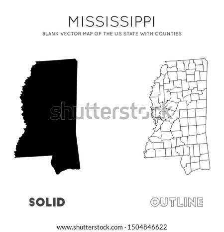 Mississippi Map Free Vector Art - (5 Free Downloads)
