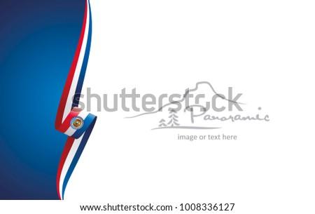 missouri abstract flag brochure