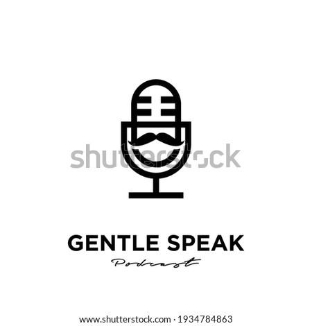 mister gentlemen podcast logo icon design Foto stock ©