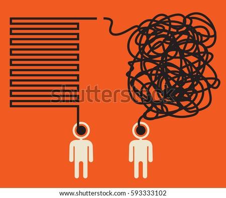 misunderstanding, two people having alternative views  Foto d'archivio ©