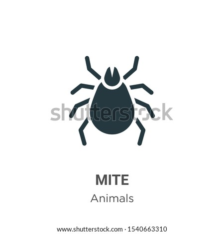 Mite vector icon on white background. Flat vector mite icon symbol sign from modern animals collection for mobile concept and web apps design. Stock photo ©