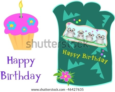 Birthday Wishes Logo. Birthday Greetings Vector