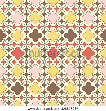 mix of islamic pattern and