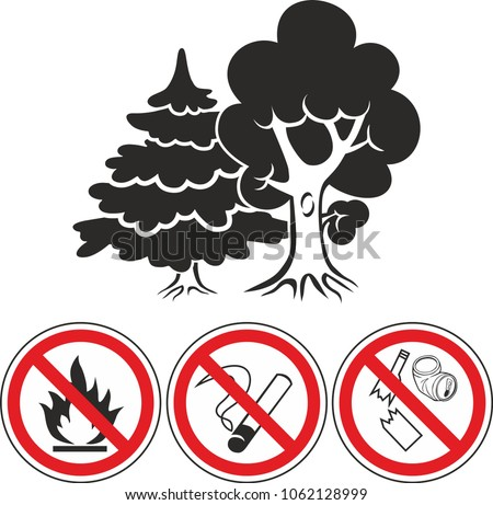 mixed forest and prohibiting