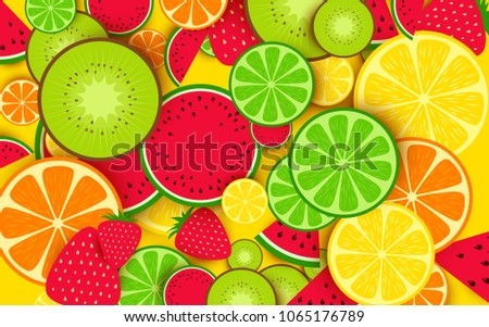 Mixed fruit background #1065176789