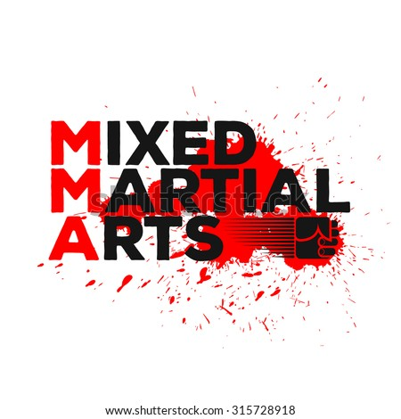 Mixed Martial Arts logo, emblem, badge. Combat sport theme. Template for your t-shirt, cover or some art works.