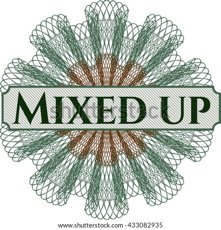 Mixed up inside a money style rosette