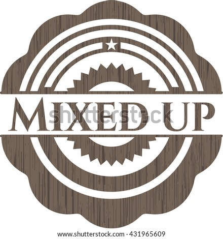 Mixed up wood emblem. Retro