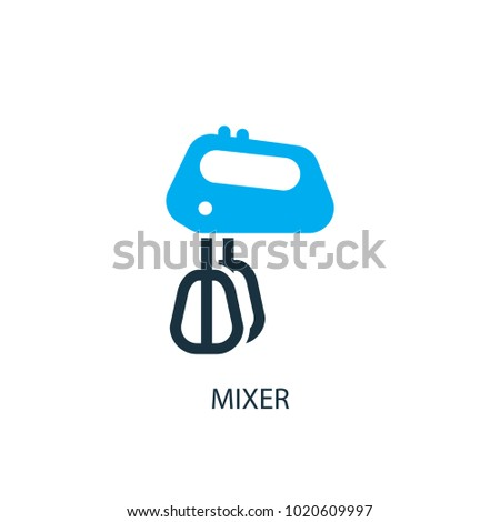 Mixer icon. Logo element illustration. Mixer symbol design from 2 colored collection. Simple Mixer concept. Can be used in web and mobile.