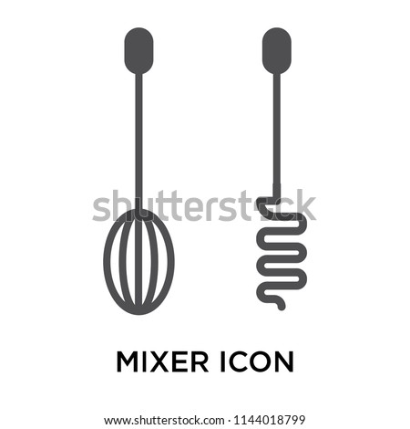 Mixer icon vector isolated on white background for your web and mobile app design, Mixer logo concept