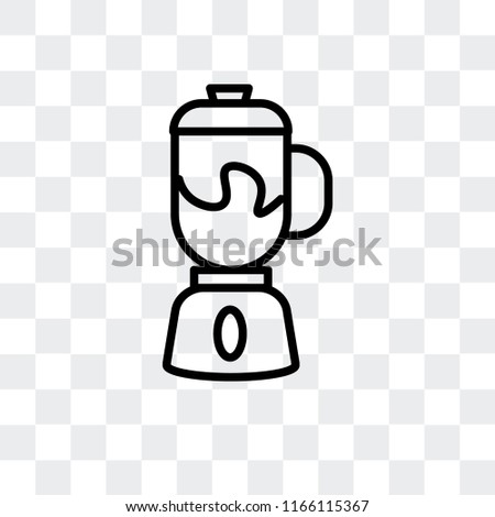 Mixer vector icon isolated on transparent background, Mixer logo concept