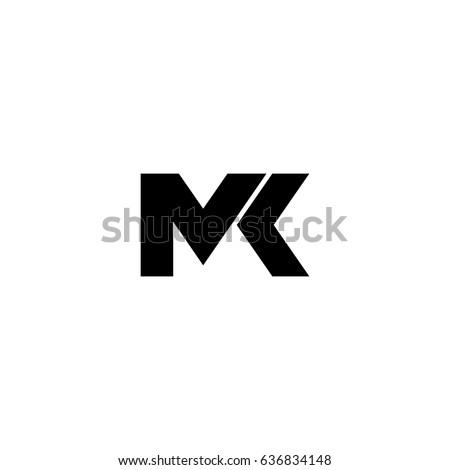 mk letter vector logo Stock fotó ©