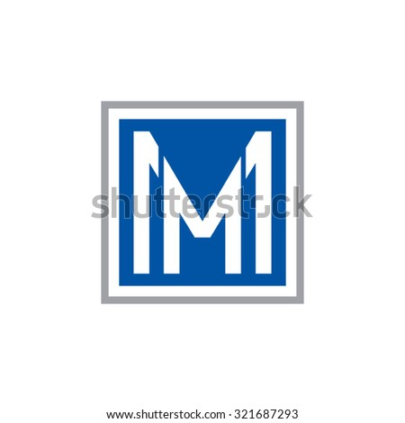 mm initial company  blue square