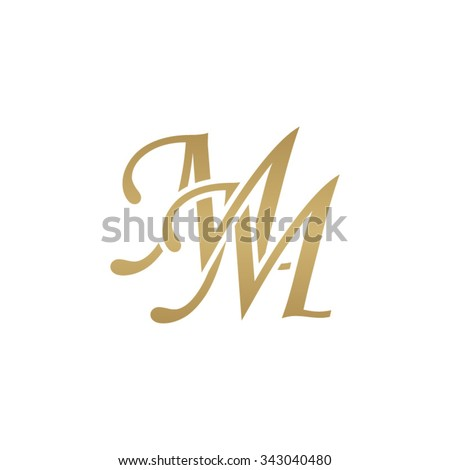 mm initial monogram logo